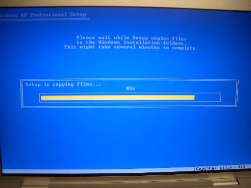 installation at 85%