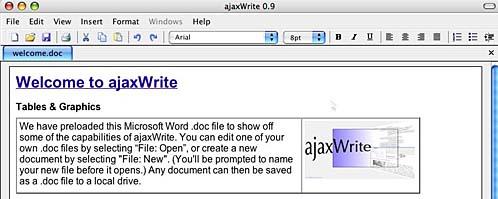 ajax write's menus