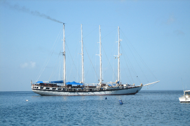 the Poly resting at anchor