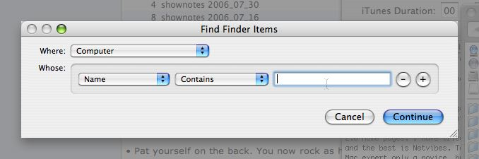 Finder window created by my shortcut