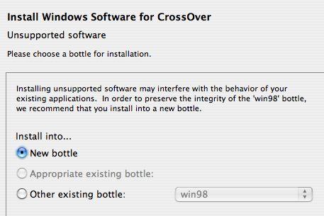 CrossOver bottle