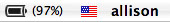 flag in menu bar