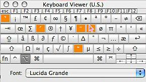 option key held down