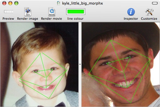 morphx showing lines on faces