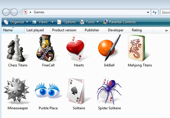 games you can play in vista
