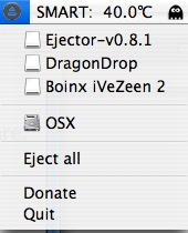 ejector showing a bunch of disk images to eject
