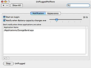 unplugged main window