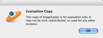 image caster evaluation warning