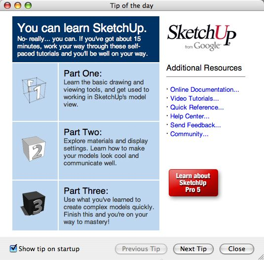 sketchup training pages
