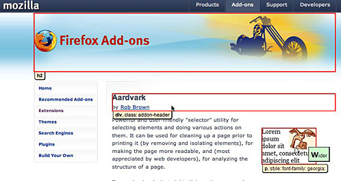 aardvark showing the tags