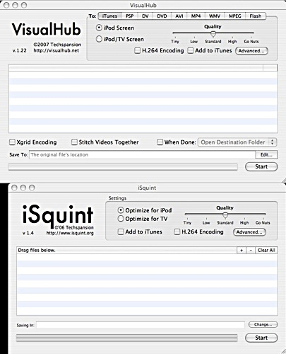 visual hub and isquint compared