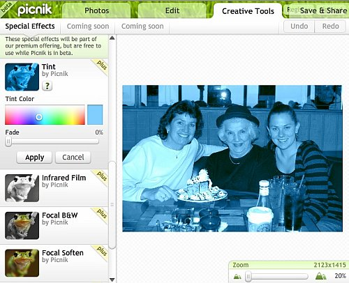 picnik photo editing features