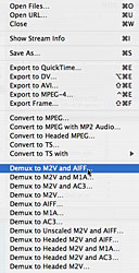 streamclip export options