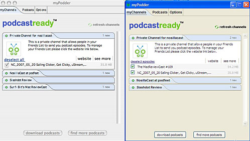 mypodder in both osx and xp