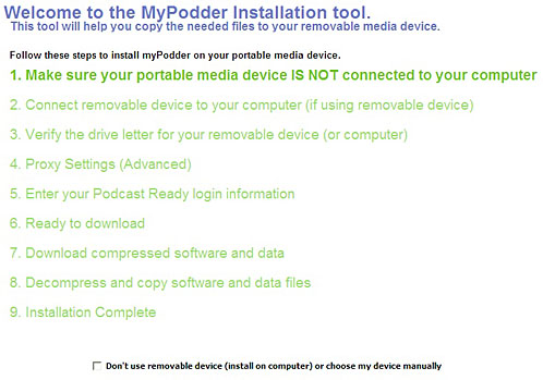 mypodder installation on Windows
