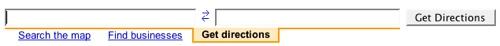 google directions menu