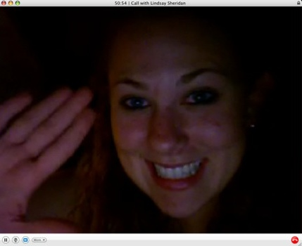 lindsay on skype from Italy
