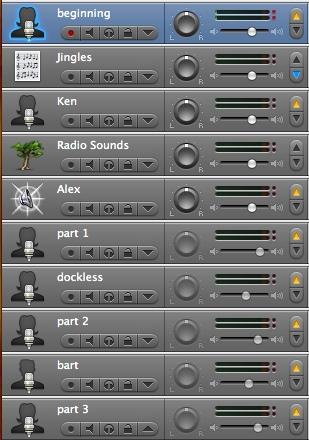 10 tracks in garageband!