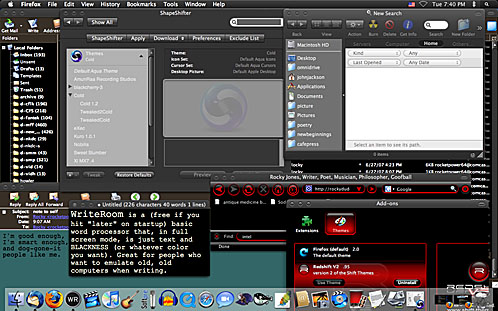 rocky's dark desktop