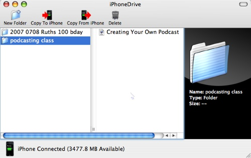 iphonedrive window