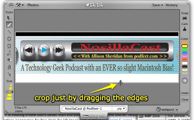 how to crop in skitch