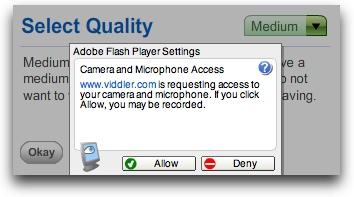 flash settings in viddler
