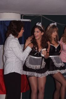 Allison on stage with the French Maids