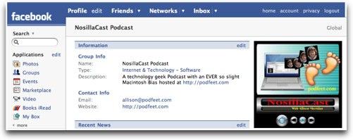 facebook group for NosillaCast
