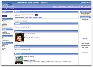 ugcdb.com entry for nosillacast