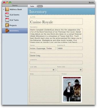 one dvd record in tim's bento dvd database