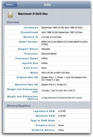 mactracker iphone online edition