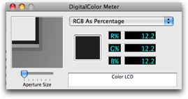 digital color meter display