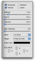 edit track menu sliders