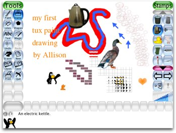 an example of my amazing artistic skills with tux paint