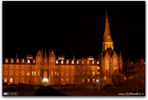 Maynooth University by night