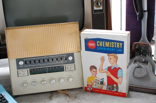 chemistry kit, radio and hoover