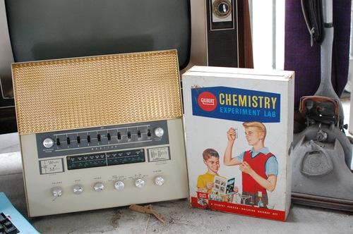 chemistry kit, radio and hoover