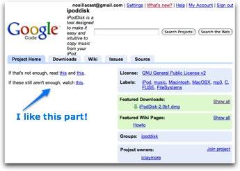 ipoddisk download site on google code