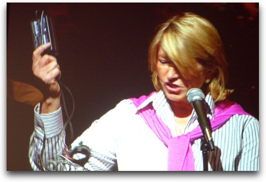 Martha Stewart with electronics