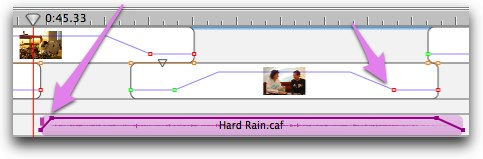 showing controls for audio and photo fade in fade out