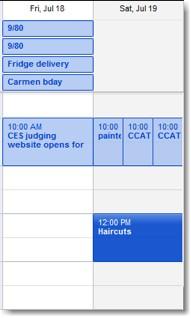 MobileMe Calendar
