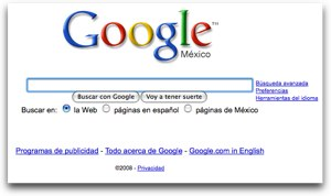 Google you see in Mexico