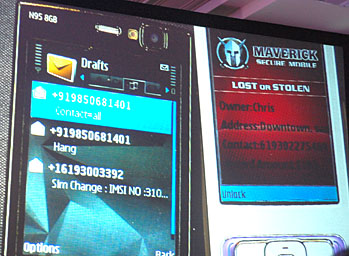 maverick Secure mobile on two screens