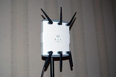 one of four wifi antennas