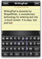 writingpad showing how you move your fingers