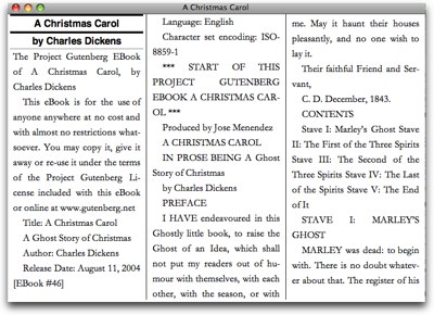 how a christmas carol looks on the desktop software