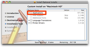 unselect iLife in the installer package