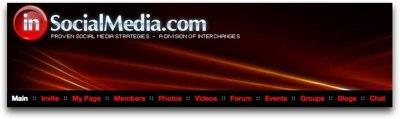 menu bar for InSocialMedia