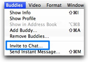 ichat buddies invite to chat