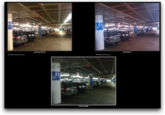 parking structure comparison iphone g1 BB bold
